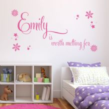 Personalised Children's Worth Melting For ~ Wall sticker / decals